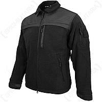 Куртка флисовая ELITE FLEECE JACKE HEXTAC® черная Mil-Tec