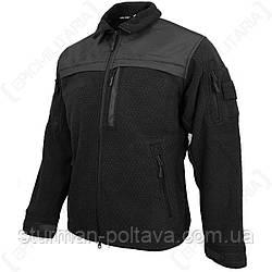 Куртка чоловіча флісова тактична ELITE FLEECE JACKE HEXTAC® Mil-Tec колір чорний Німеччина