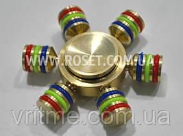 Разборной спиннер цельнометаллический - Fidget Spinner Rainbow 6