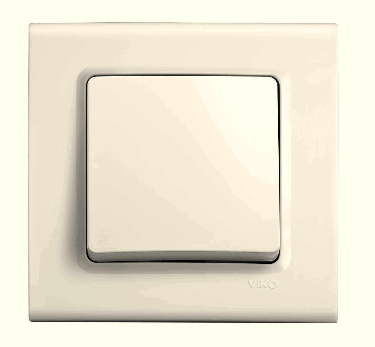 Выключатель одноклавишный VIKO Linnera Крем 90401001