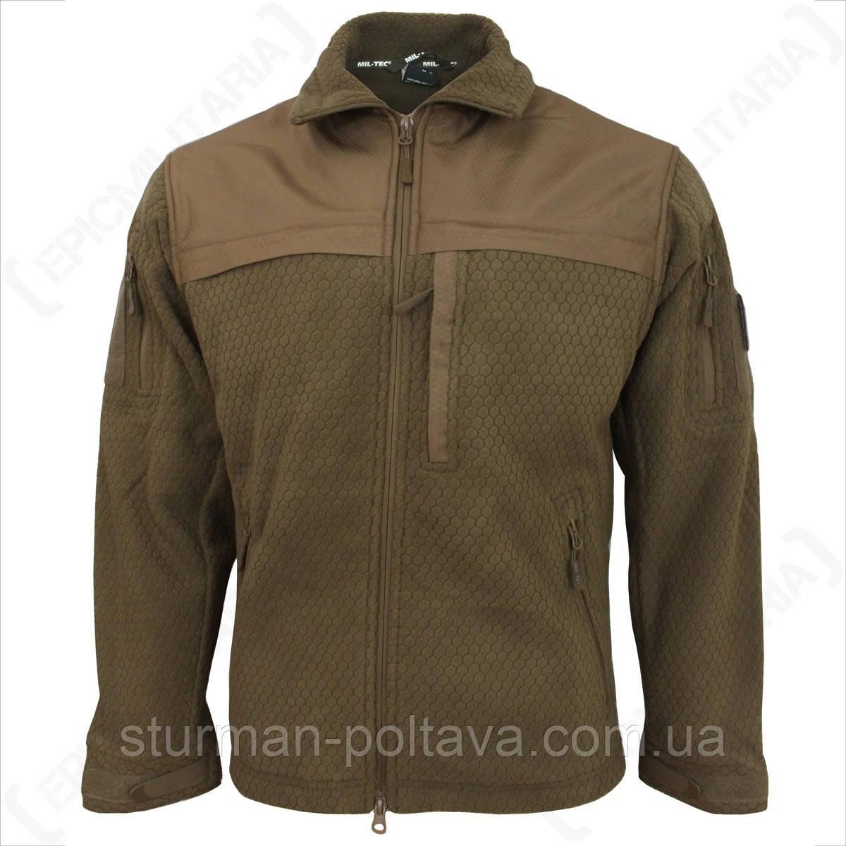 Куртка мужская флисовая тактическая ELITE FLEECE JACKE HEXTAC® Mil-Tec цвет   койот  Германия