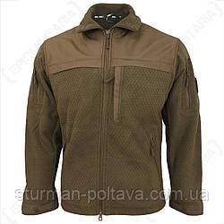 Куртка флисоваятактическая кайот ELITE FLEECE JACKE HEXTAC® coyote Mil-Tec