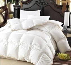 Одеяло двуспальное пуховое Зимнее Raffaello 172x205 Белый пух 100% Екстра премиум MirSon 063, фото 3