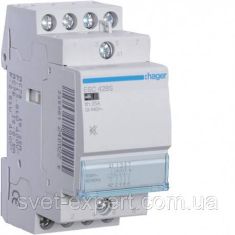 ESC425 Контактор 25A, 4НВ, 230В Хагер