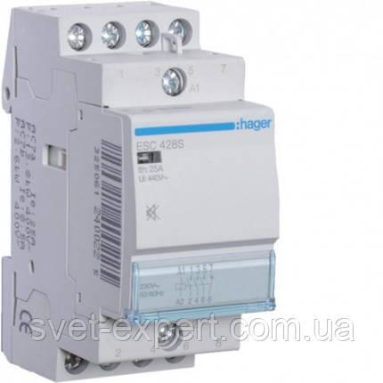 ESC425 Контактор 25A, 4НВ, 230В Хагер, фото 2