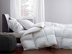 Одеяло полутоное пуховое Зимнее Raffaello 140x205 Белый пух 100% Екстра премиум MirSon 063, фото 3