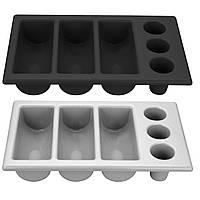 Контейнер для столовых приборов GN 1/1, 6 секций, серый Hendi