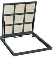 Люк-невидимка 900, ревизионный, технологический металлический с пневмопружинами под плитку и прочие покрытия.
