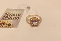 Кольцо золотое женское с камнем. Вес 3,16 гр. Размер 18.