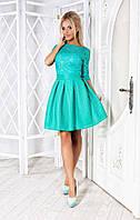 """Платье мини """"Гипюр-неопрен"""". Разные цвета."""