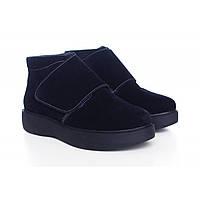 Темно-синие замшевые ботиночки 0515-13