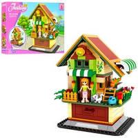 Детский конструктор Ausini 24709 двухэтажный дом с фигурками (401 деталь)