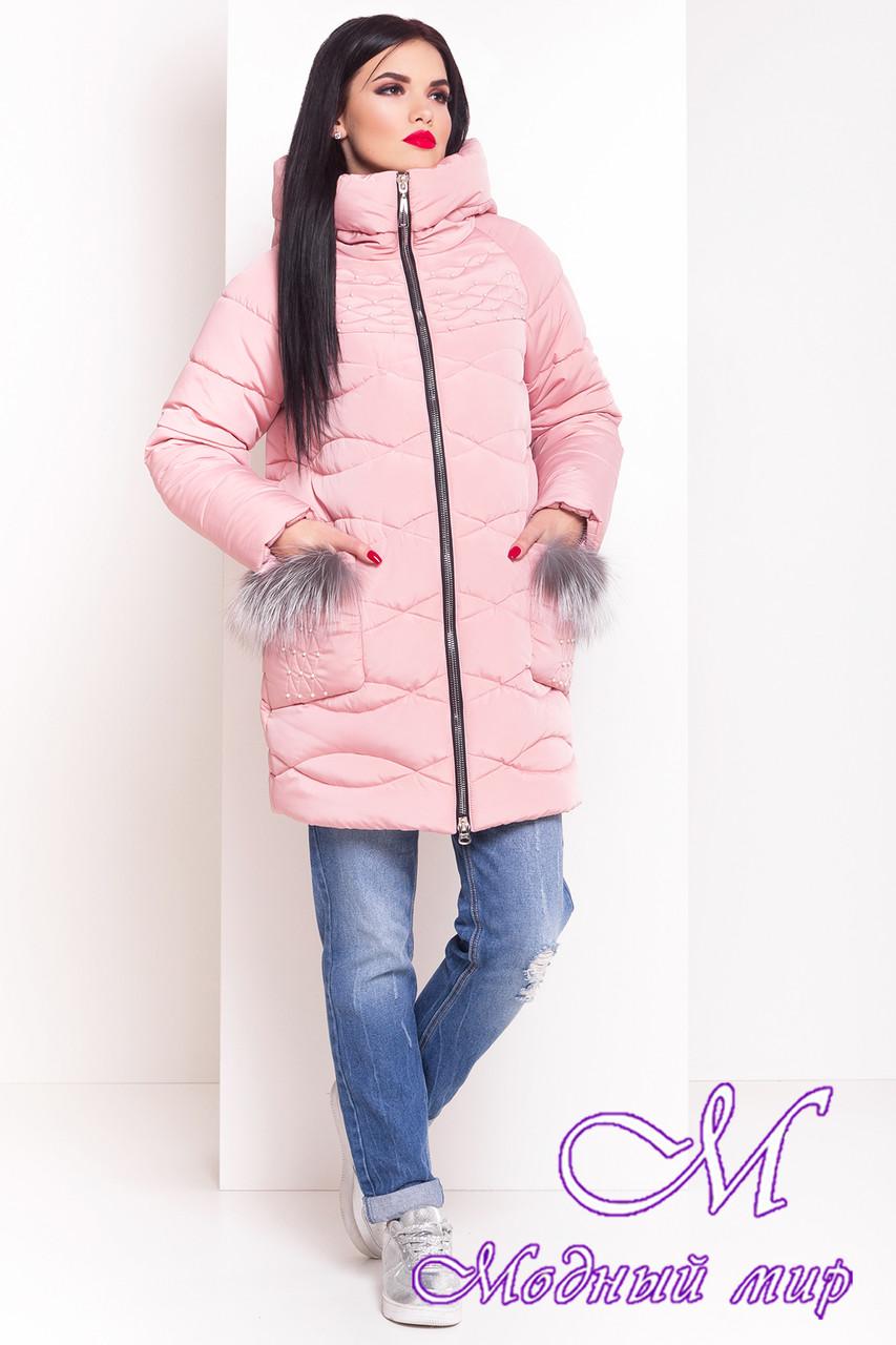 Стильная женская зимняя куртка (р. XS, S, M, L, XL) арт. Лея 17401