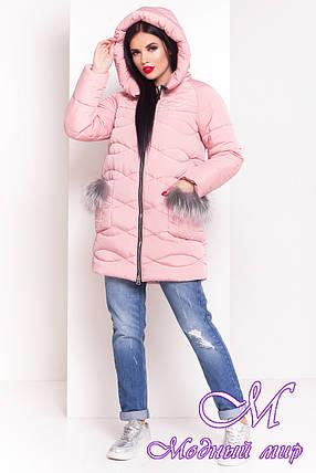 Стильная женская зимняя куртка (р. XS, S, M, L, XL) арт. Лея 17401, фото 2