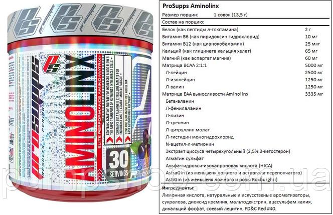 Бцаа ProSupps AminoLinx-30 порц., фото 2