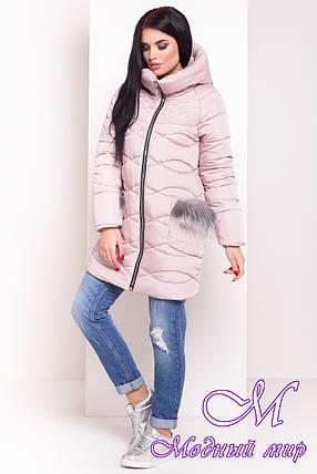 Женская теплая зимняя куртка (р. XS, S, M, L, XL) арт. Лея 17402, фото 2