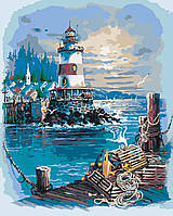 Картина по номерам Тихая гавань худ. Андрес Орпинас (KHO2724) Идейка 40 х 50 см