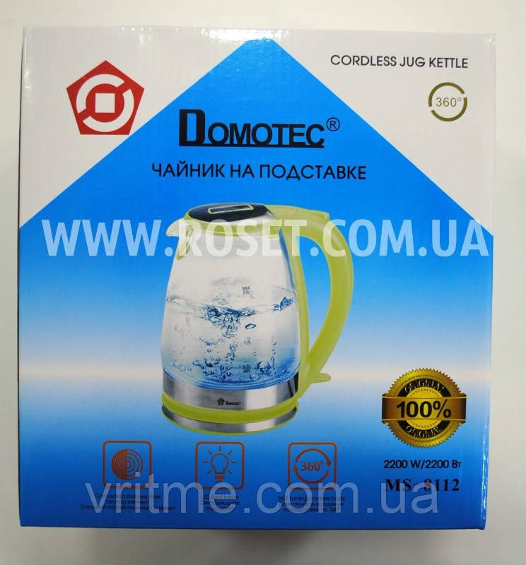 Электрический чайник - Domotec MS 8112 2200W Зеленый (поворот на 360 градусов)