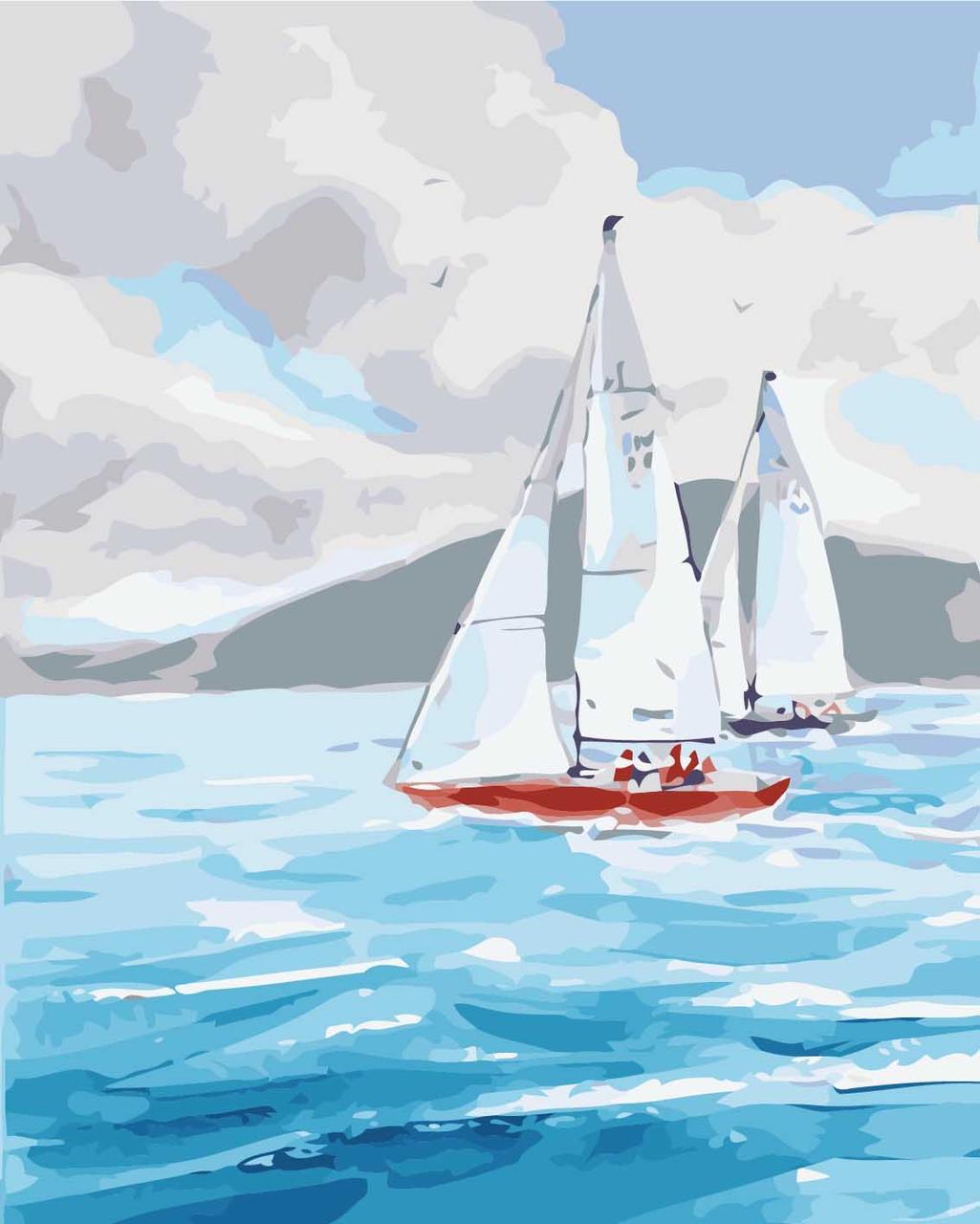 Набор для рисования по номерам Ласковое море (KHO2726) Идейка 40 х 50 см