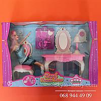 Кукла с мебелью в коробке