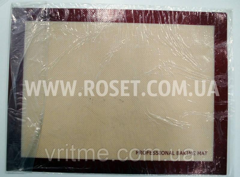 Силиконовый 2-ухсторонний армированный коврик для выпечки Professional Baking Mat 400 х 300 мм
