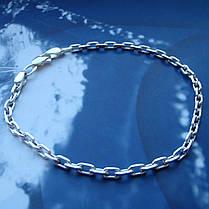 Серебряный браслет, 190мм, 5 грамм, плетение Якорь, фото 2