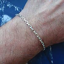 Серебряный браслет, 190мм, 5 грамм, плетение Якорь, фото 3
