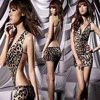 Леопардовое платье, открытая спина , фото 1
