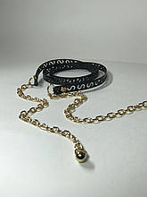 Женский ремень цепочка G 126 (черный)