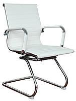 Кресло для конференций белое Solano artleather