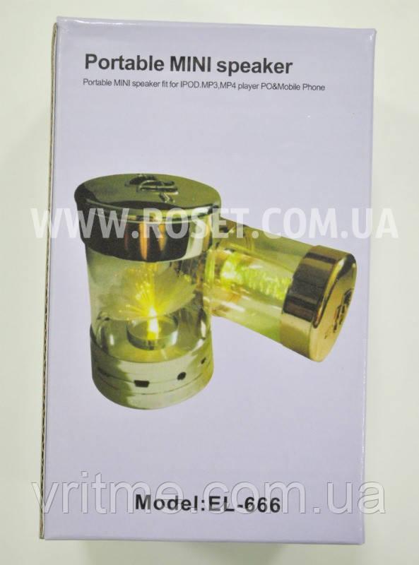 Мини-колонка с подсветкой - Portable Mini Speaker EL-666