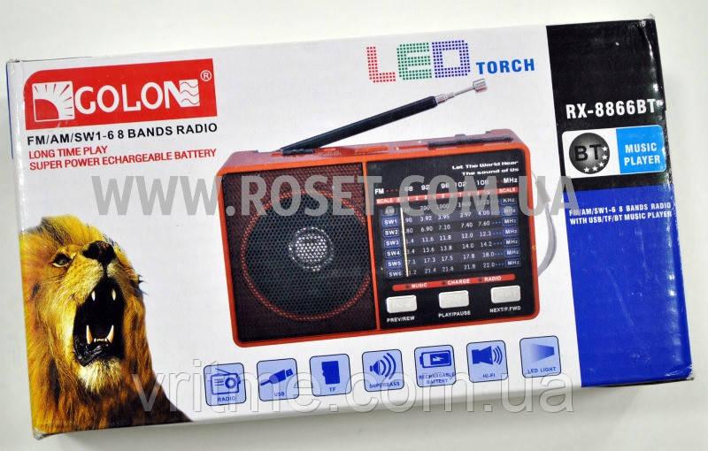 Проигрыватель портативный мини - Golon RX-8866BT MP3 USB TF FM LEDLight
