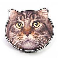 Зеркало карманное Кошка
