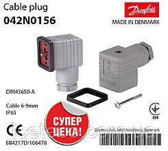 Штекер DIN для подключения катушек ВВ Danfoss (042N0156)