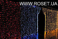 """Фасадная 180 LED гирлянда """"штора"""" , 2 * 2 м. белая и мульти цвета"""