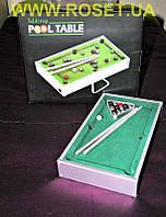 Настольный мини-бильярд TableTop mini Pool Table - 21x10.5x4cm