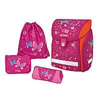 Ранец школьный укомплектованный Herlitz MIDI PLUS Butterfly (50007837)