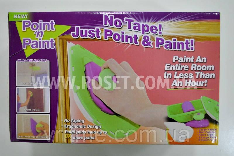 Губка малярная для нанесения краски Point n Paint + лоток для краски