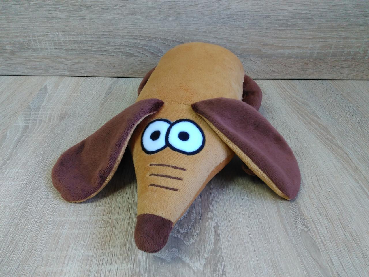 Мягкая игрушка-подушка собака Такса ручная работа