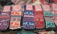 Теплые детские носочки с подошвой