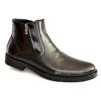 Ботинки зимние мужские классические кожаные  (арт. 358)