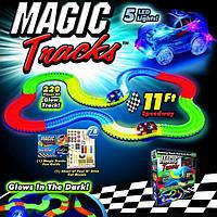 Игра Конструктор Magic Tracks 165 деталей, Гоночный трек игрушка, Автотрек детский, Конструктор дорога