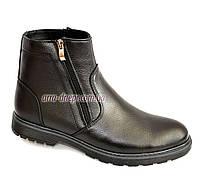 Классические зимние мужские ботинки, кожа флотар. (арт. 425)