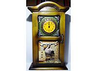 Часы-Ключница в классическом стиле KC233B, ключница на 4 крючка, деревянный шкафчик для хранения ключей