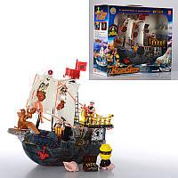 Детский игровой набор Корабль пиратов 50828 D, 31-26-10см, фигурки, сундук
