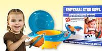 "Детская тарелка-непроливайка ""Universal Gyro Bowl"", тарелка непроливайка неваляшка, посуда для детей"