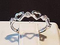 Серебряное кольцо с фианитами. Артикул 19063р, фото 1