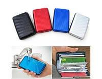 Визитница ALUMA WALLET, кошелек для визиток, Алюминиевый кошелек-визитница, визитница металлическая
