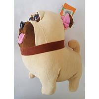 """Мягкая игрушка Собака """"Мопс Мєл"""" из м/ф """"Тайная жизнь домашних животных, 24 см."""