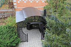 """Беседка """"Анталия"""" с мангальной зоной """"Тамерлан"""" (цвет черный/коричневый), фото 3"""